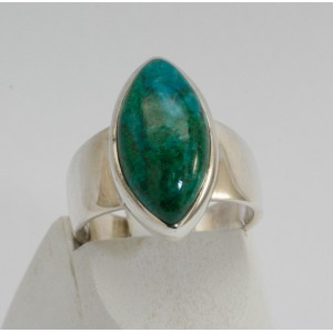 Bague chrysocolle navette