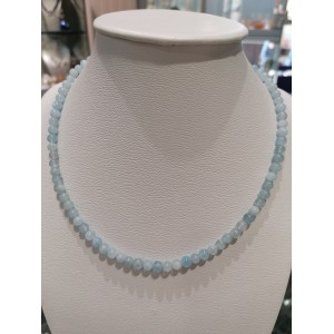 Collier boules 5 mm aigue-marine