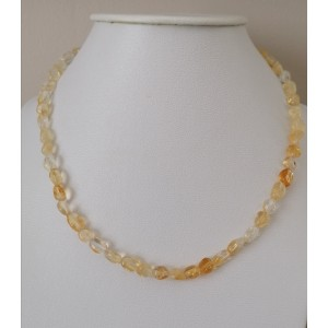 Citrine collier galets