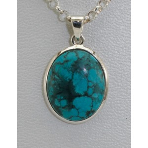 Pendentif turquoise cabochon
